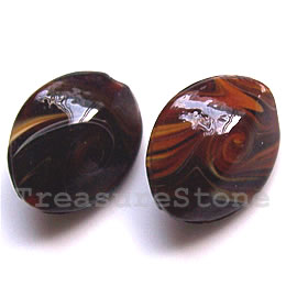 Bead, lampworked glass, 12x19x23mm. Pkg of 4.