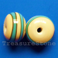 Bead, lampworked glass, 12x8mm rondelle. Pkg of 6.
