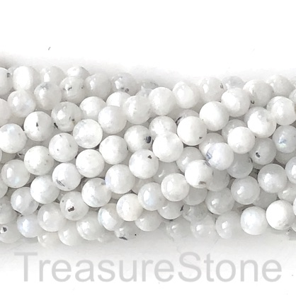 Bead, rainbow moonstone, 4mm round, Grade C. 15.5-inch, 90pcs