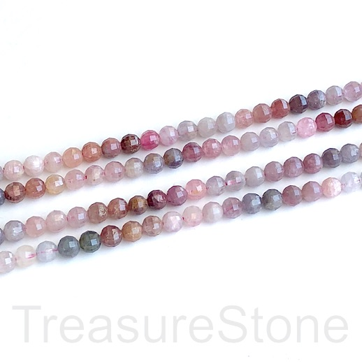 Bead, rainbow spinel, 4mm faceted round. 16-inch, 100pcs