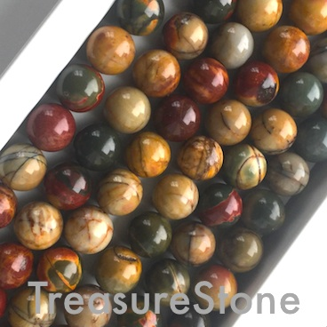 Bead, Red Creek Jasper, Round, 10mm. 15.5 inch, 38pcs