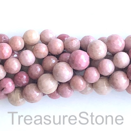 Bead, Rhodonite 1, faceted Round, 8mm, 15-inch, 45pcs.