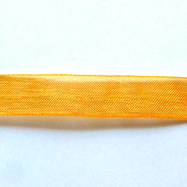 Organza ribbon, orange, 11mm wide. Pkg of 6 meters.