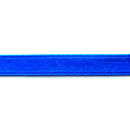 Ribbon, velvet and nylon, cobalt blue, 7mm wide. Pkg of 7 meters