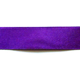 Ribbon, velvet and nylon, purple, 18mm wide. Pkg of 4 meters.