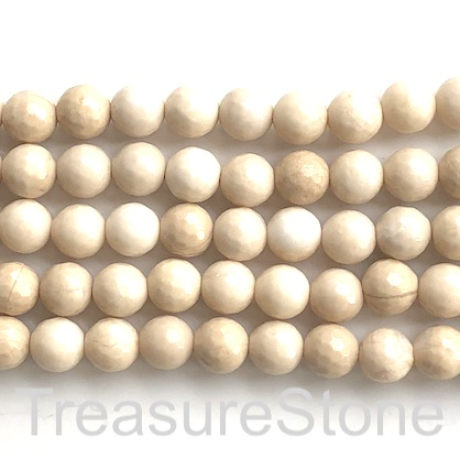 Bead, rive stone, 8mm faceted round. 15-inch, 46pcs