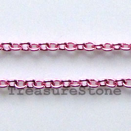 Chain, brass, rose-finished, 1mm curb. Sold per pkg of 1 meter.