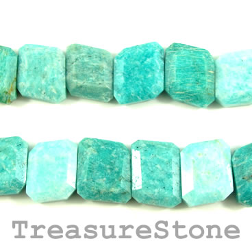 Bead, Russian Amazonite, faceted, 18x24mm. 21pcs