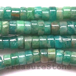 Bead, Russian Amazonite, heishi, 2x4mm. Sold per 16-inch strand.