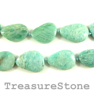 Bead, Russian Amazonite, about 20x30mm irregular. 13pcs