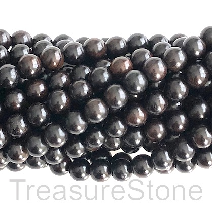 Bead, scented wood, black tan, 8mm round. Pkg of 108pcs.