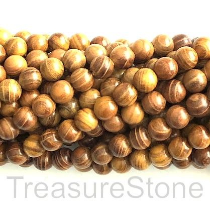 Bead, scented wood, brown 1, 8mm round. Pkg of 108pcs.
