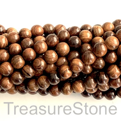 Bead, scented wood, brown 2, 8mm round. Pkg of 108pcs.