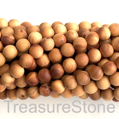 Bead, scented wood, brown 3, 8mm round, matte. 108pcs.