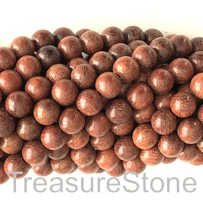 Bead, scented wood, brown 5, 8mm round. Pkg of 108pcs.