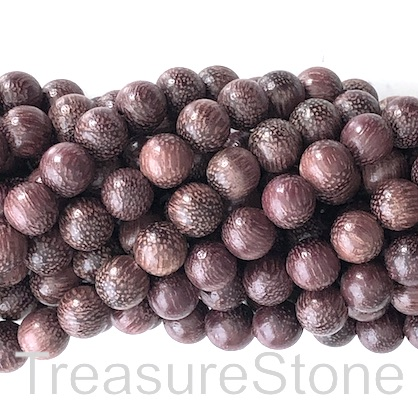 Bead, scented wood, dark purple, 8mm round. Pkg of 108pcs.