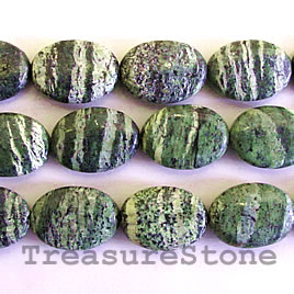 Bead, seraphinite, 13x18mm flat oval. 16-inch strand.