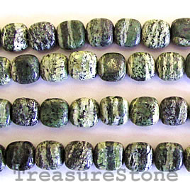 Bead, seraphinite, 8mm flat square. 16-inch strand.