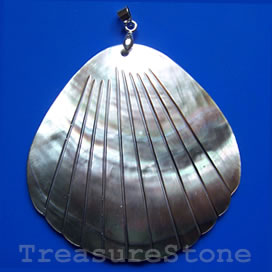 Pendant, shell, 60mm shell. Sold individually.