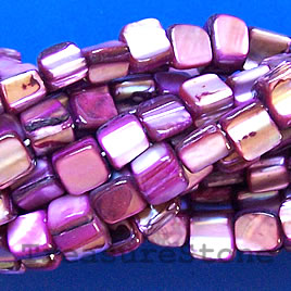 Bead, shell, light purple chip (dyed). 15.5-inch strand.
