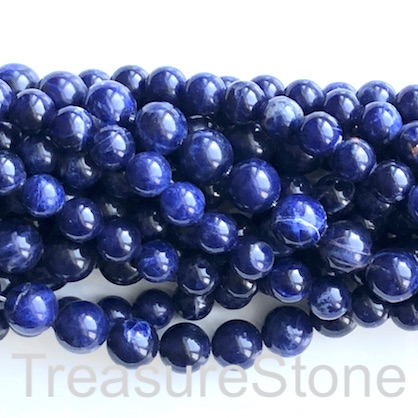 Bead, sodalite, 10mm round, grade A. 15-inch, 37pcs