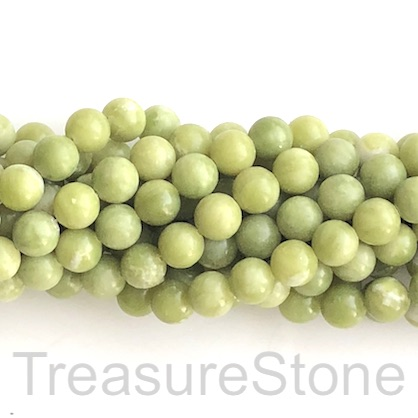 Bead, Southern jade, 8mm round. 15.5-inch strand. 48pcs.