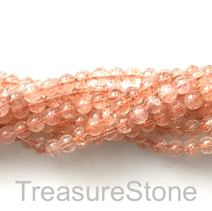 Bead, Sunstone, 6mm round, GRADE A-. 20.5-inch strand, 90pcs