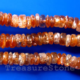 Bead, sunstone, 3x6mm heishi. 16-inch strand. - Click Image to Close