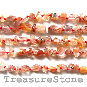 Bead, sunstone, 12x17mm nugget. 16-inch strand. - Click Image to Close