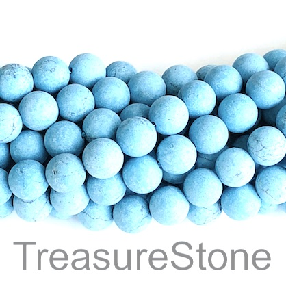 Bead, dyed howlite, 4mm round, matte. 15-inch, 92pcs