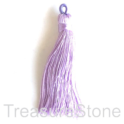 Tassel, silk, 8x68mm, lilac. Pack of 2