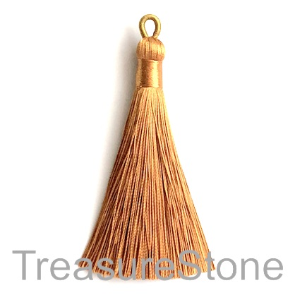 Tassel, silk, 9x80mm, gold. Each