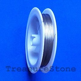 Tigertail, clear, 7 strands, 0.38mm diameter, 100meters