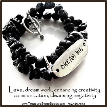 """Dream Big"" Lava Bracelet."