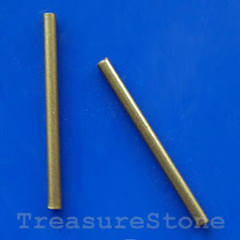 Tube, bronze plated, 2x30mm. Pkg of 20.