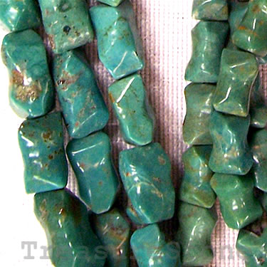 Bead, turquoise, bone. 16-inch strand. - Click Image to Close
