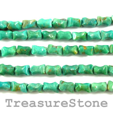Bead, turquoise (natural), 11x15mm bone. 16-inch strand.