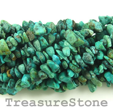 Bead, turquoise (natural), chips. 35-inch strand.