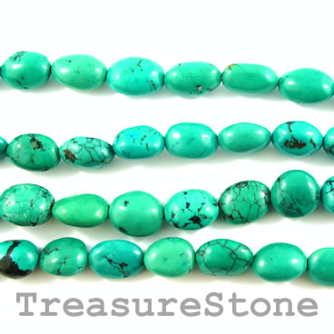 Bead, turquoise (natural), 11x15mm nugget. 15-inch strand.