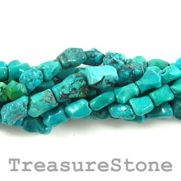 Bead, turquoise (natural), nugget, Grade B-. 16-inch strand.