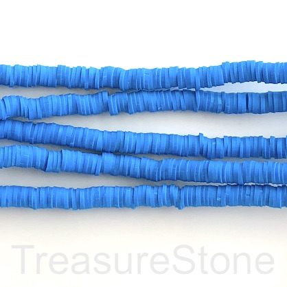 Bead,African Vinyl Rubber,Polymer Clay,blue 6mm heishi disc,16""