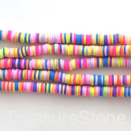 Bead,African Vinyl Rubber,Polymer Clay,mix3 6mm heishi disc,16""