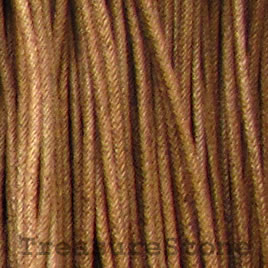 Cord, waxed cotton, brown, 2mm. Sold per 6-meter.