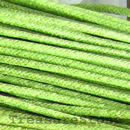 Cord, waxed cotton, peridot, 2mm. Sold per 6-meter.