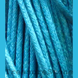 Cord, waxed cotton, turquoise, 2mm. Sold per 6-meter.