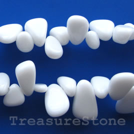 Bead, white agate, 4mm round. 15.5-inch strand.