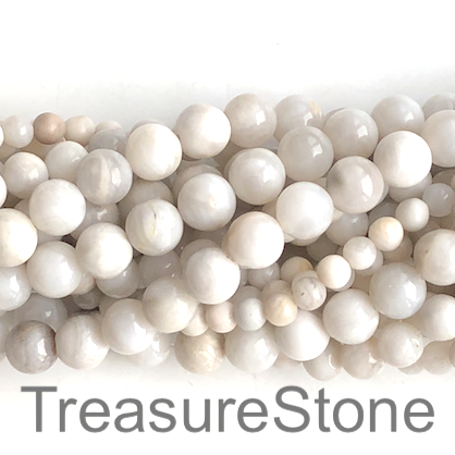 Bead,white crazy lace agate ,6mm round. 15 inch, 65pcs