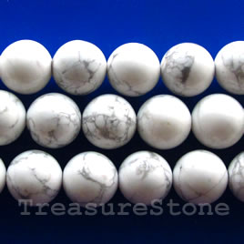 Bead, white howlite, 4mm round. Sold per 15.5-inch strand.