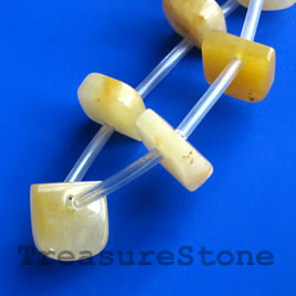 Bead, yellow jade, 11mm top-drilled. Sold per pkg of 20.