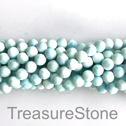Bead, Larimar, natural, B grade, 6mm round. 15.5 inch, 61pcs